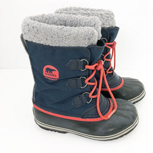 Sorel Blue Gray Red Insulated Waterproof Boots, 5